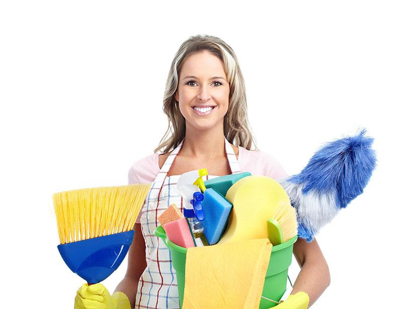 Reinigungs-Frau-Umzugsreinigung